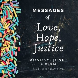 Messages of Love, Hope, and Justice
